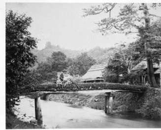 明治初期、飯山庫裏橋を旅したF・ベアトによる1枚の写真