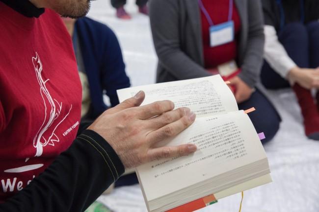 (上2点)古川日出男が朗読する自作の該当箇所の肉筆