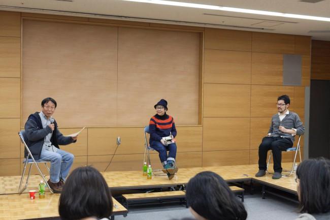 柴田元幸、開沼博、豊崎由美によるディスカッション「本とのいろいろな関わり」。社会にとって、世界にとって本とは何か、また本のこれからについて語り合った