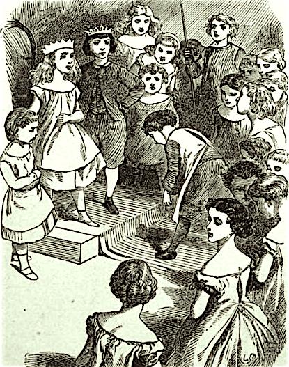 ランズ『リリパットの謁見』(Ch. グリーンによる1868年版への挿絵)