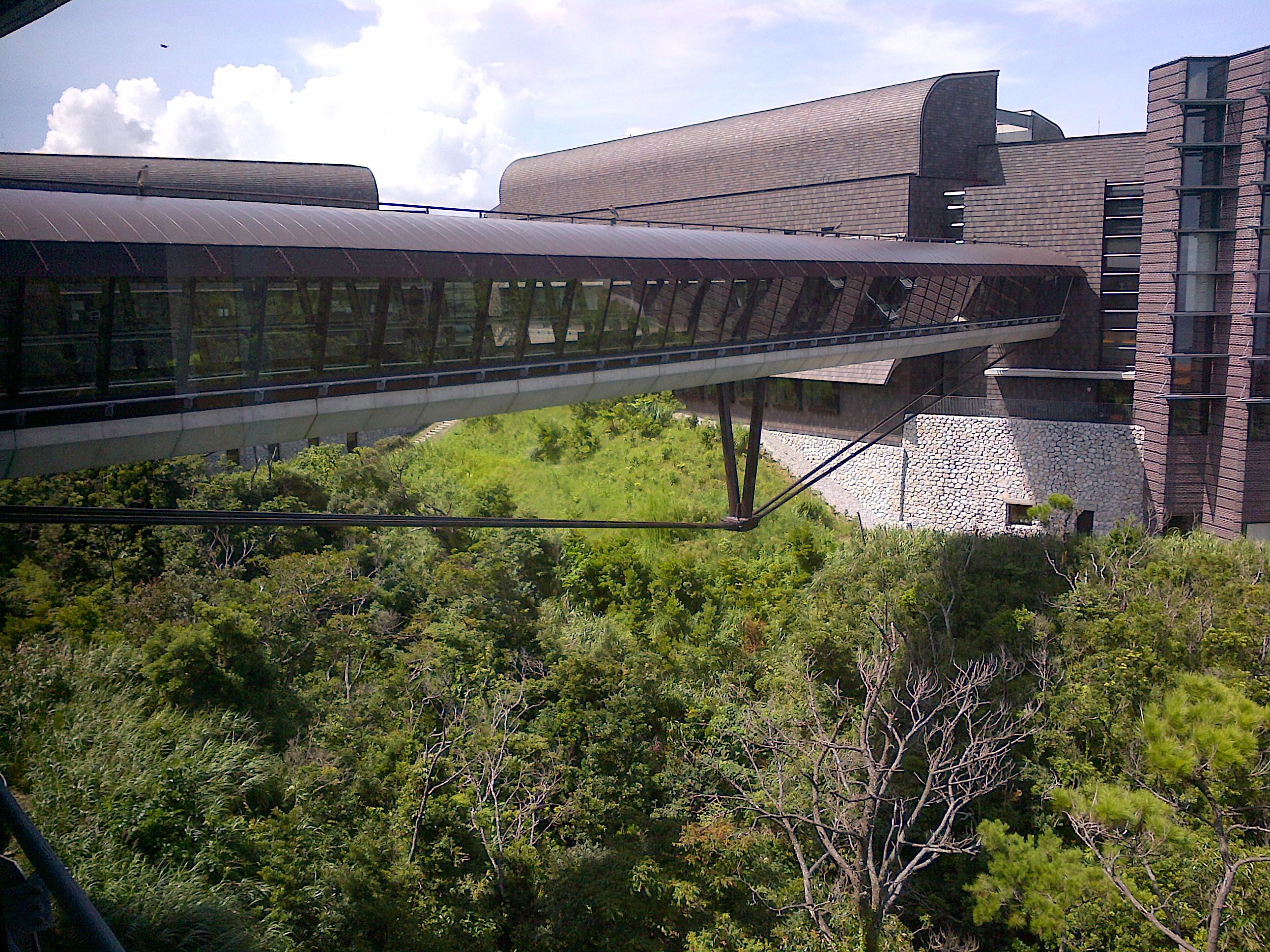 センター棟と研究棟を結ぶ「空中回廊 スカイウォーク」