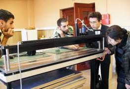 アルメニアの国立公文書館にて。納入した機材を確認。