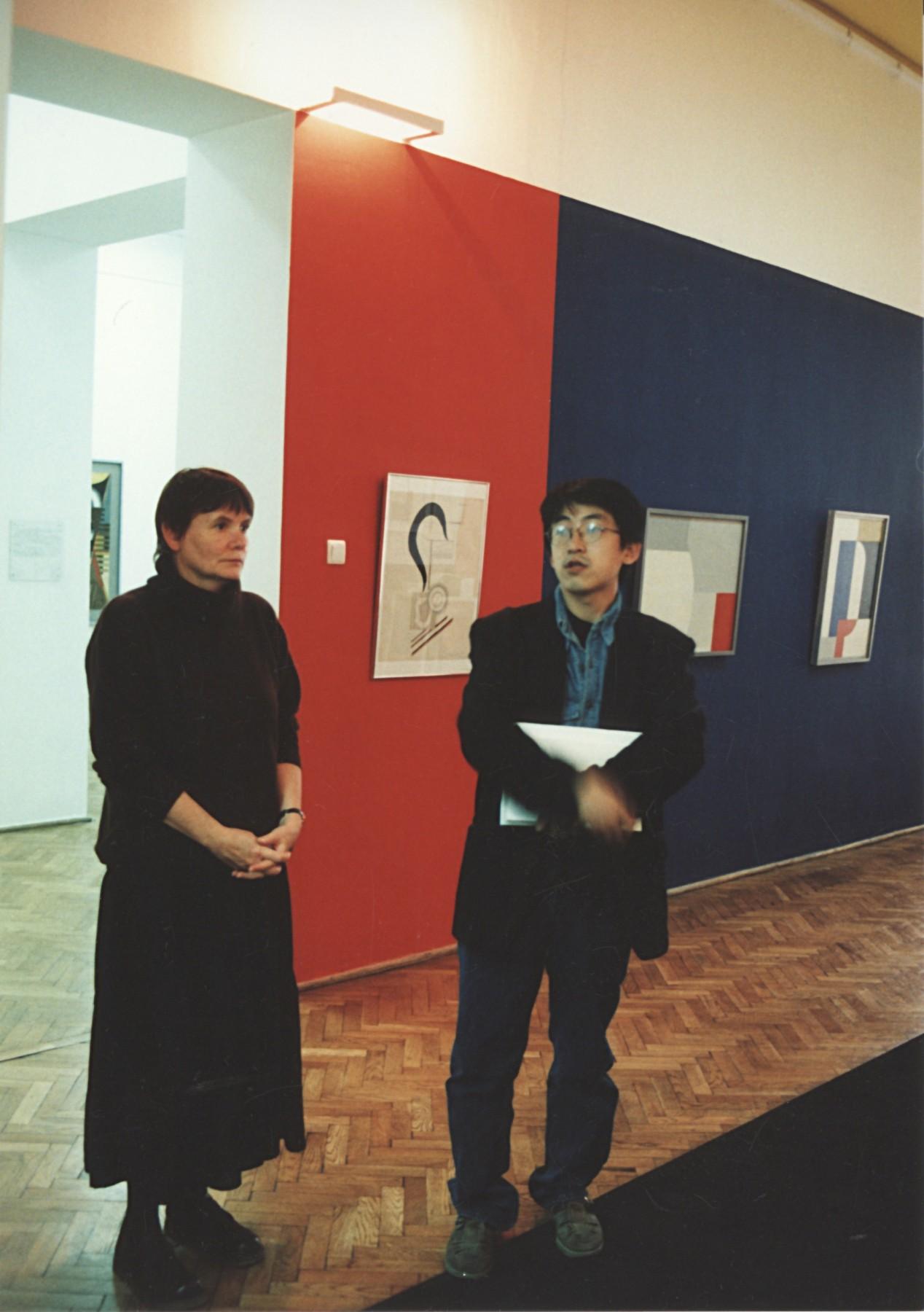 ポーランドのウッチ国立近代美術館にて(1996年)。