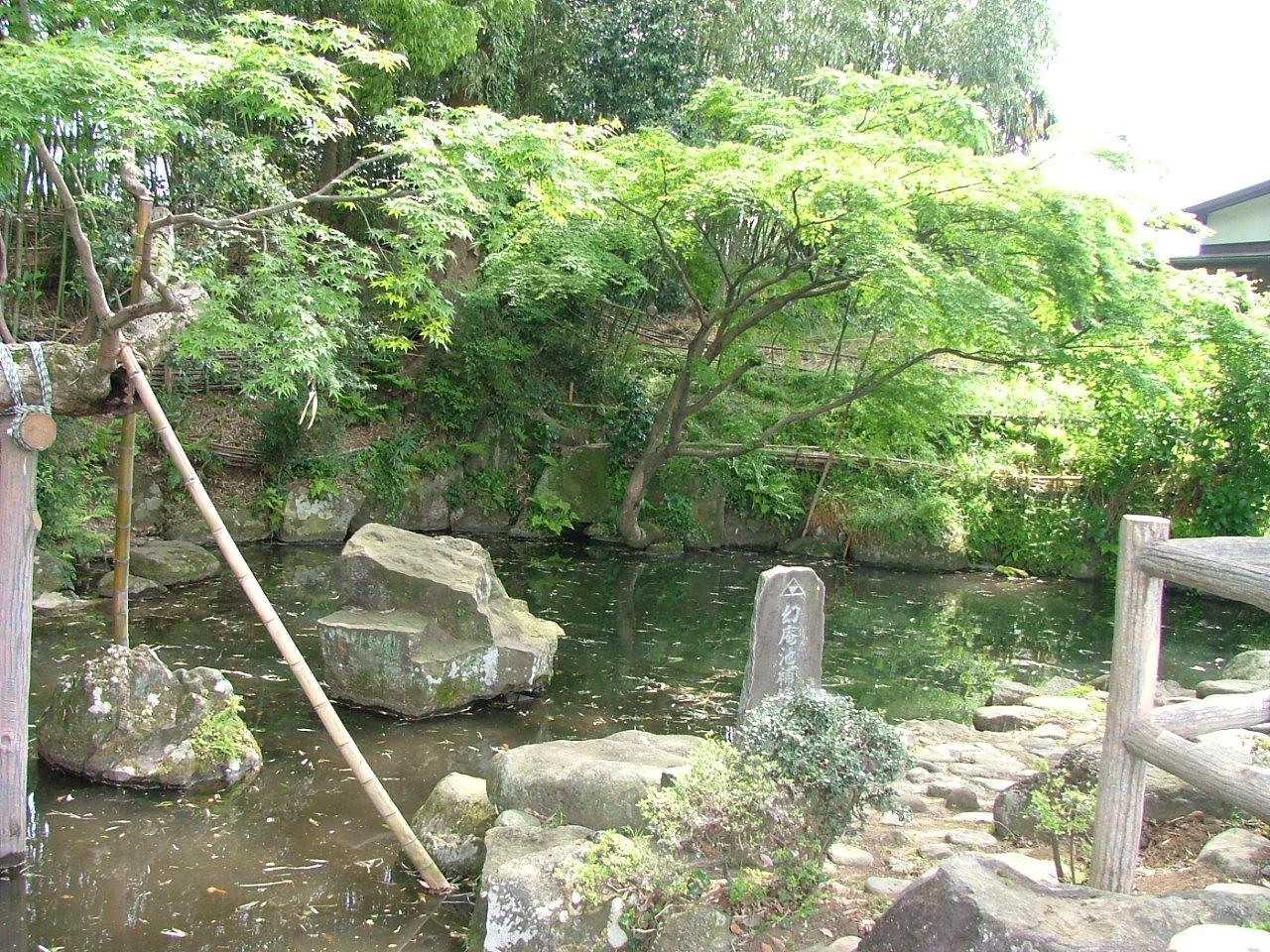 小田原市久野の北条幻庵屋敷跡にある幻庵作庭園。まちの至るところに、北条氏の痕跡が残る。