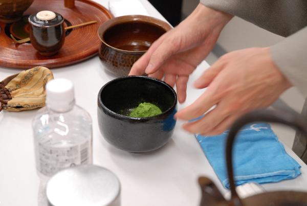 濃茶の実演と試食2