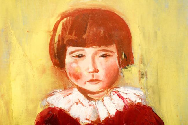 「赤い服の少女」部分