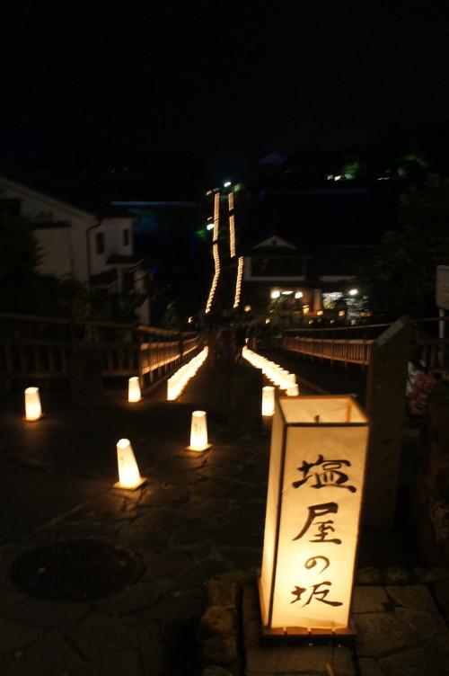 観月祭の行燈。