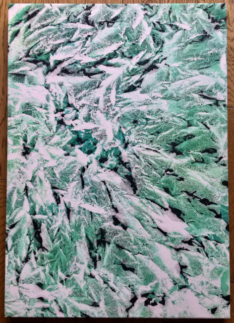 《緑流麗》  第22回アートムーブコンクール(2017年)入選
