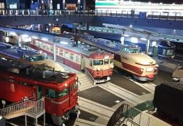 鉄道博物館の車両ステーション
