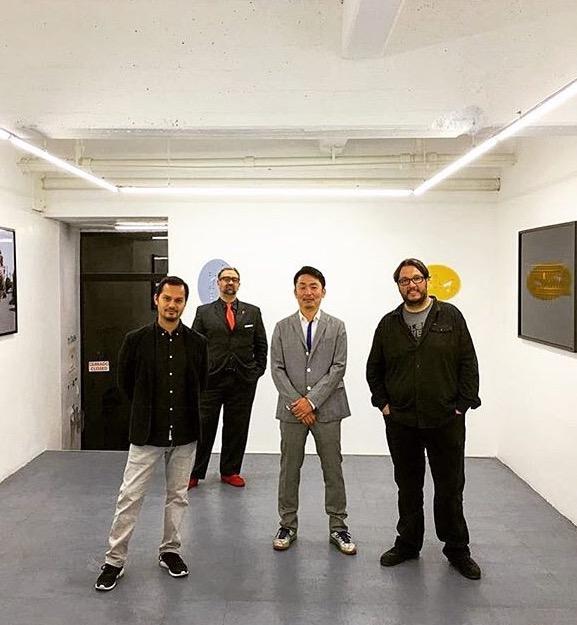 2016年にメキシコで開催した個展にて