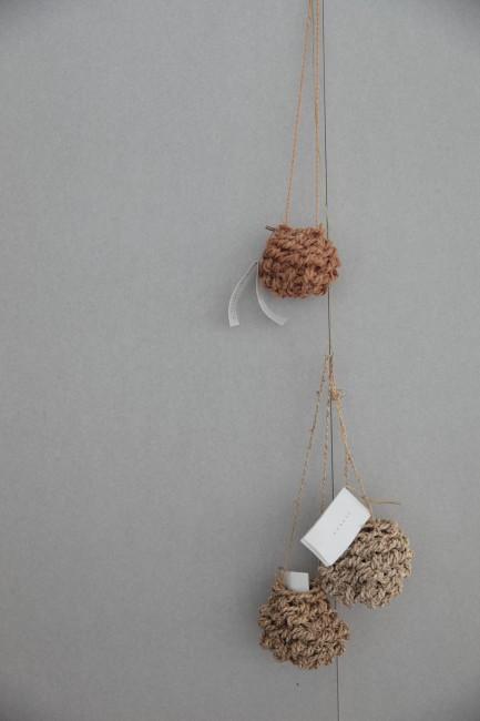 シナ縄の花かご