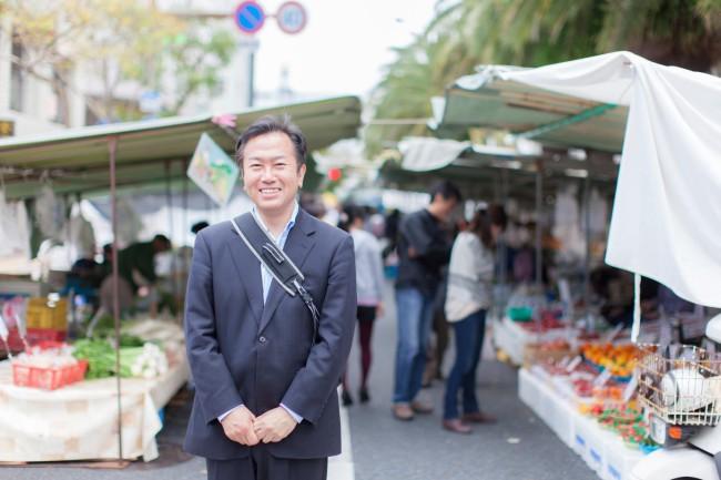 森岡眞秋さん。3代前の街路市係長
