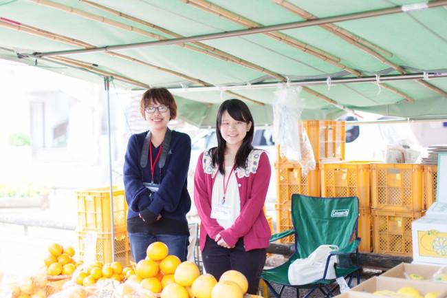 大学生ボランティアが手がける休憩所兼観光案内所