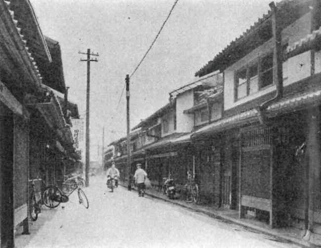 昭和34年頃の西陣の町並み(昭和34年6月発行『西陣グラフ』第32号より)