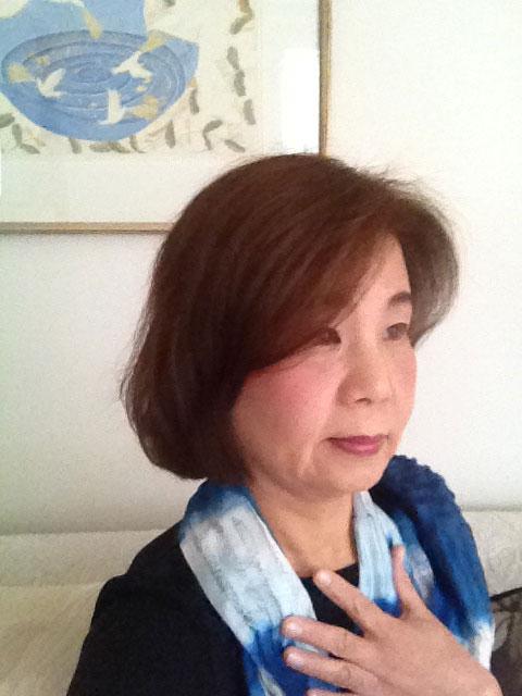 京都造形芸術大学・子ども芸術学科の梅田美代子さん。「細胞の記憶 表現のかたち」展を企画した