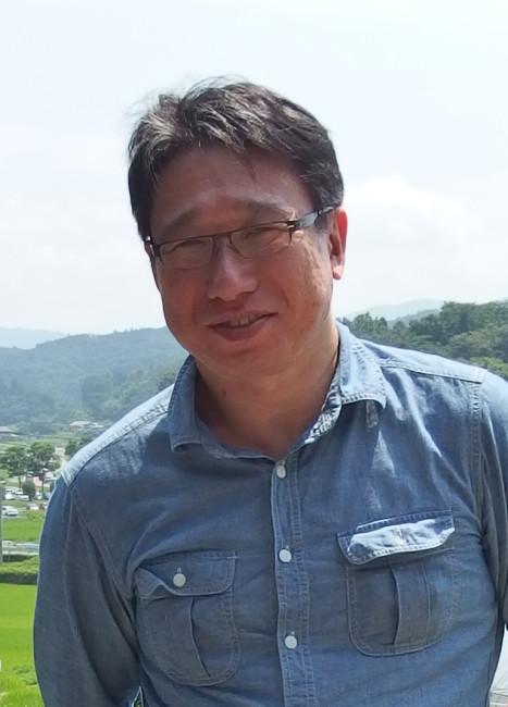 テキスタイルアーティスト・大高亨さん。 しょうぶ学園の巡回展を企画して以来、親しい交流が続く