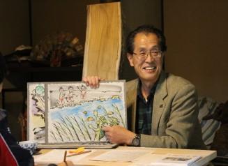 飯山の七不思議の一つ「河童伝説」を語る