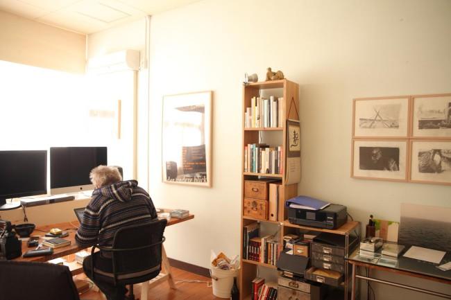 茂木綾子さん / ヴェルナー・ペンツェルさんの2階の仕事場