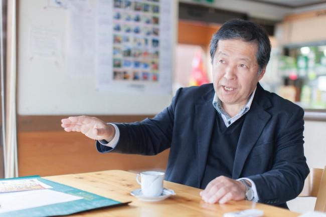 元・西粟倉村村長(現・美作東備森林組合代表理事)の道上正寿さん