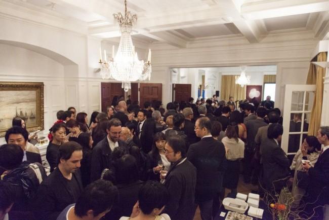 オランダ大使館にて、オランダと佐賀県の2016/ project における提携発表のようす Photo : Kenta Hasegawa