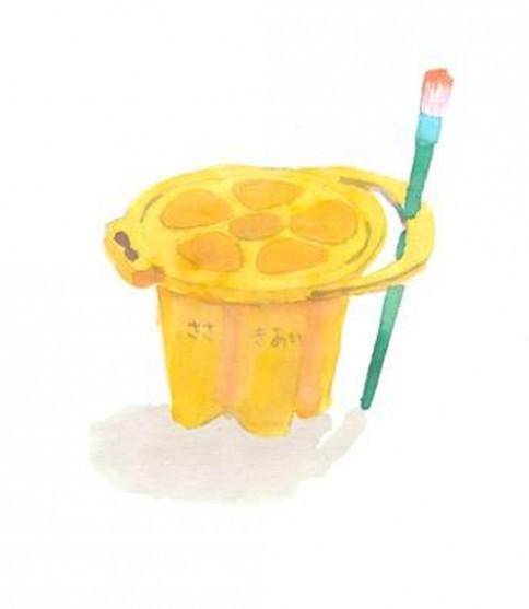 黄色のバケツ