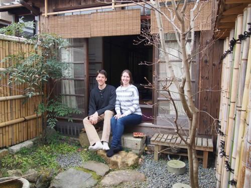 アメリカからの宿泊客。「あずきや」に4泊して京都を満喫