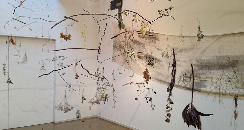 2014年8月に塩江美術館にて開催した個展の様子