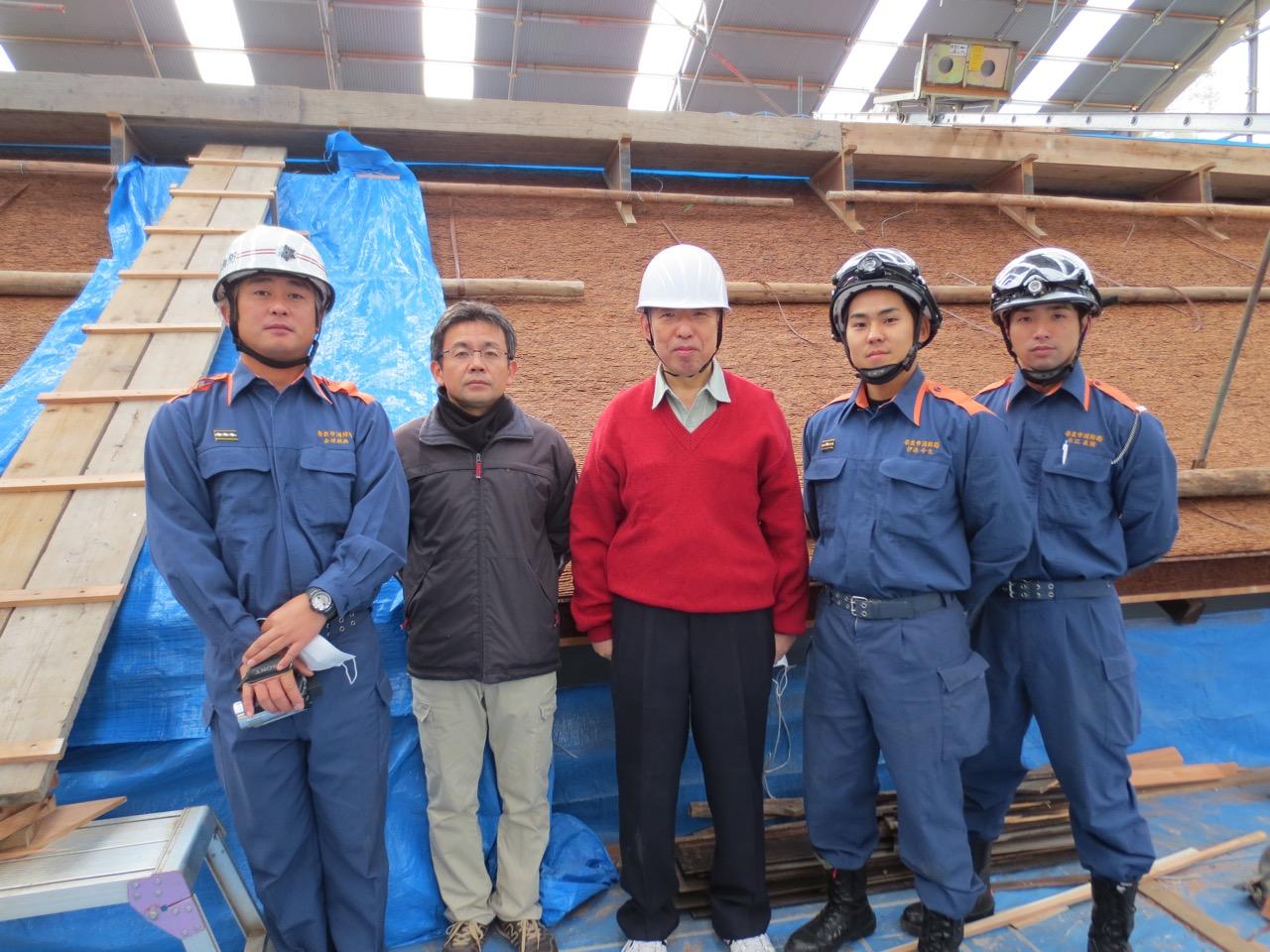 2012年には、奈良市消防局からの招聘で、春日大社の防火対策についての調査研究に参加、助言を行った。
