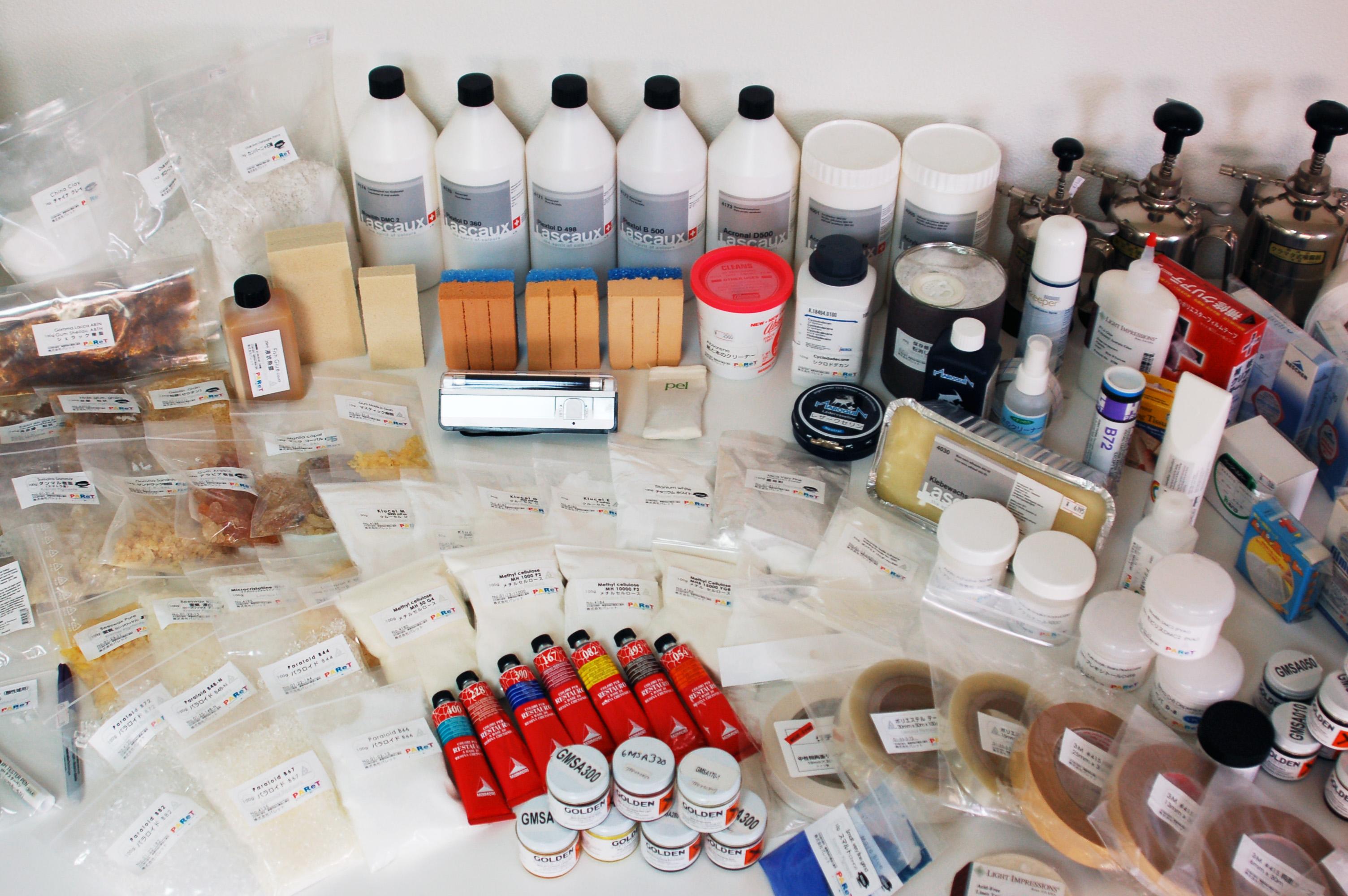 株式会社パレットにて取り扱う商品の一部。 必要なものを適量に揃えることができる 。