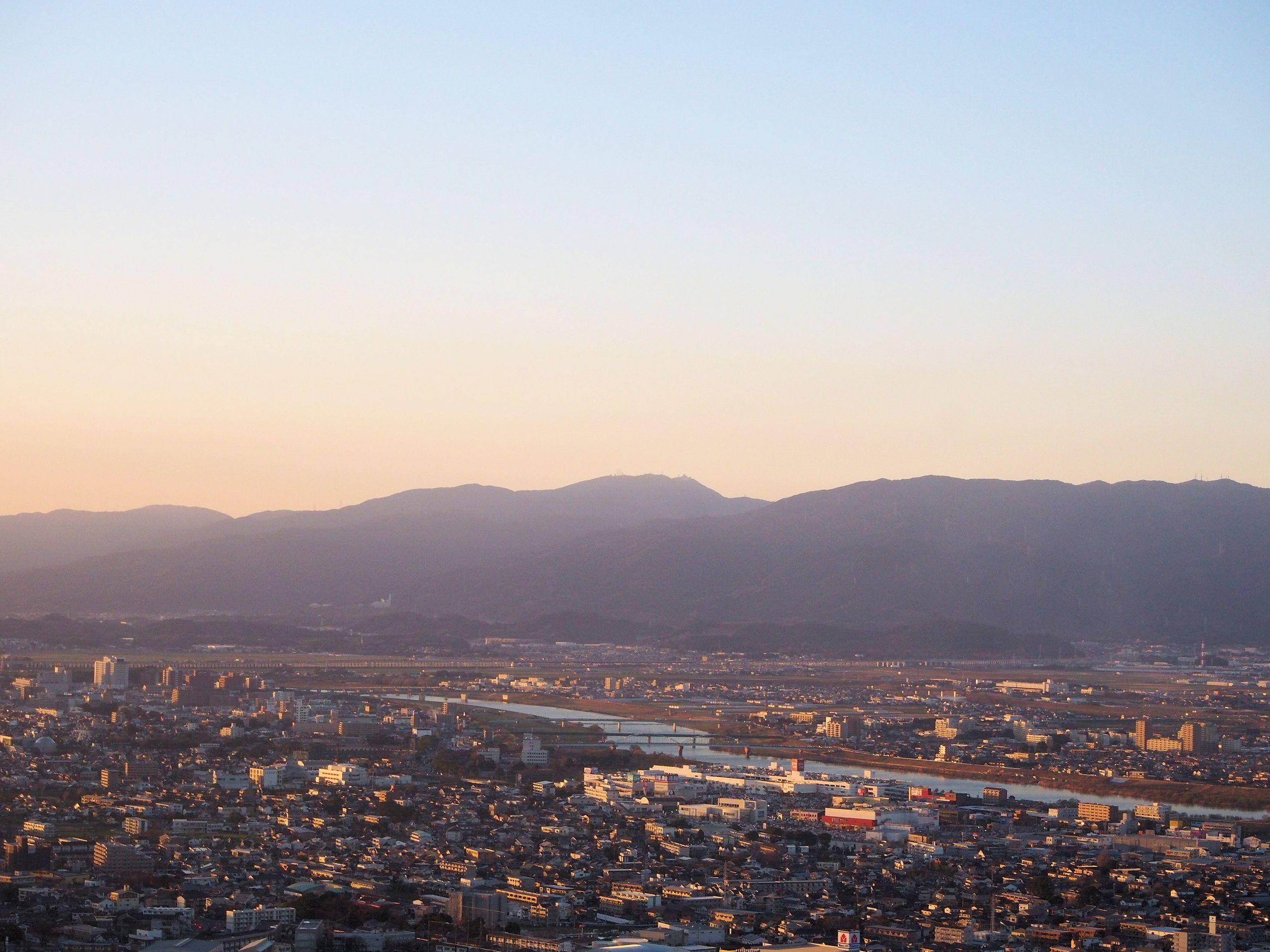 久留米市全景。