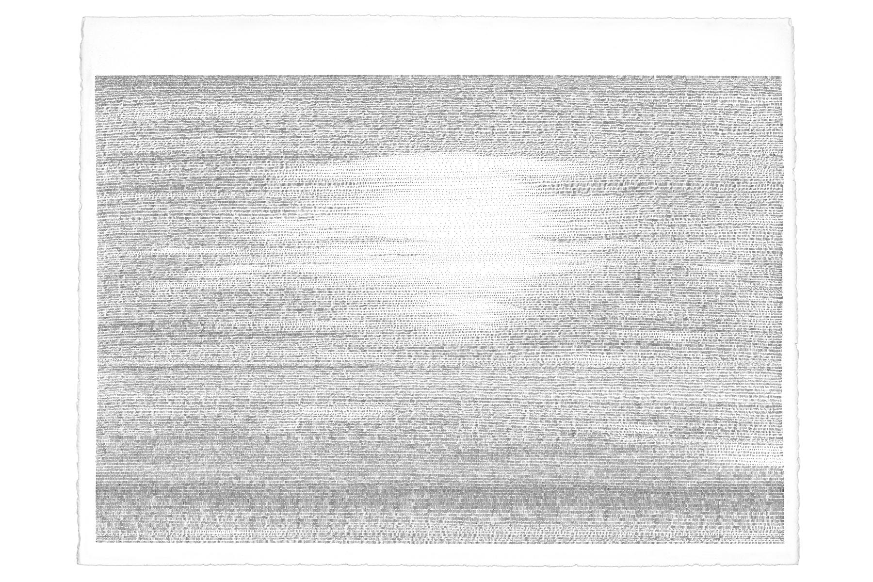 Fig.2 蚕が桑の葉を食べる動作をヒントに生まれた《海/素描》。
