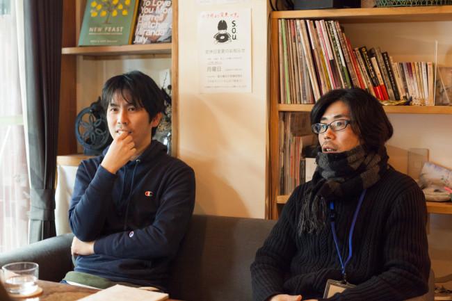 (左から)宮迫憲彦さん、田中誠一さん