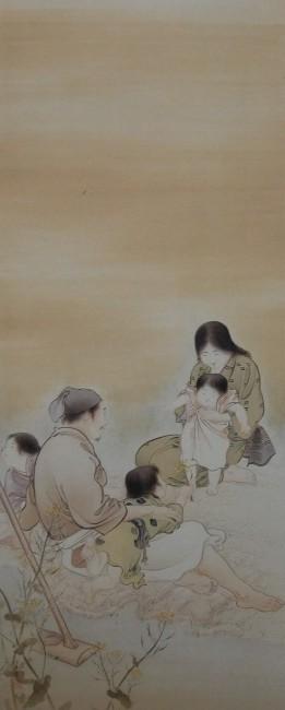 《温和》1901年、絹本着色、軸、130×55.5㎝、さくら市ミュージアム-荒井寛方記念館-寄託