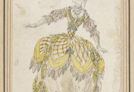 Louis-René Boquet, maquette de costume pour les Indes Galantes, 1770.  Source gallica.bnf.fr / Bibliothèque nationale de France