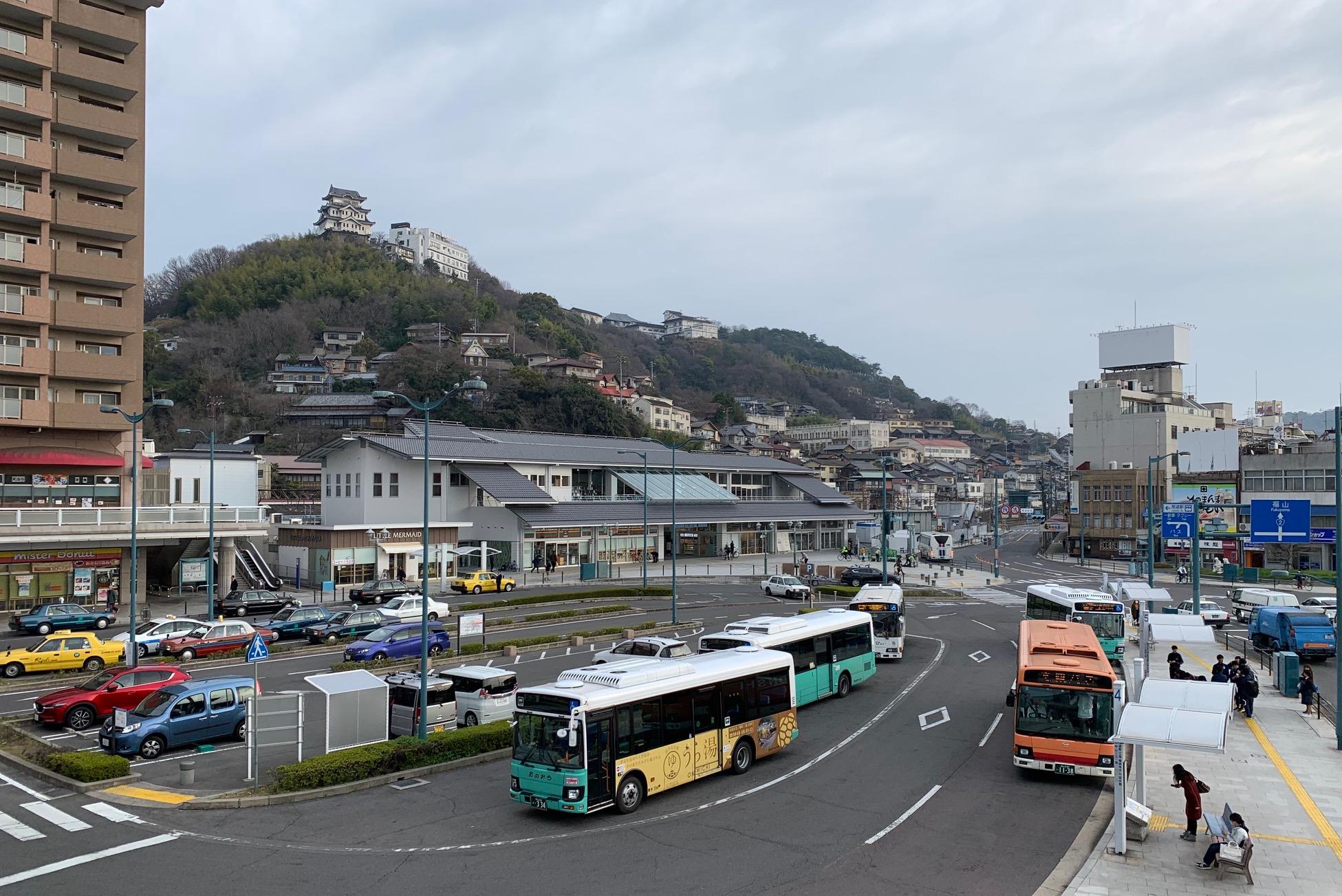 JR尾道駅新駅舎全景