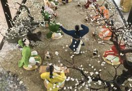 大宰府展示館、梅花の宴ジオラマ