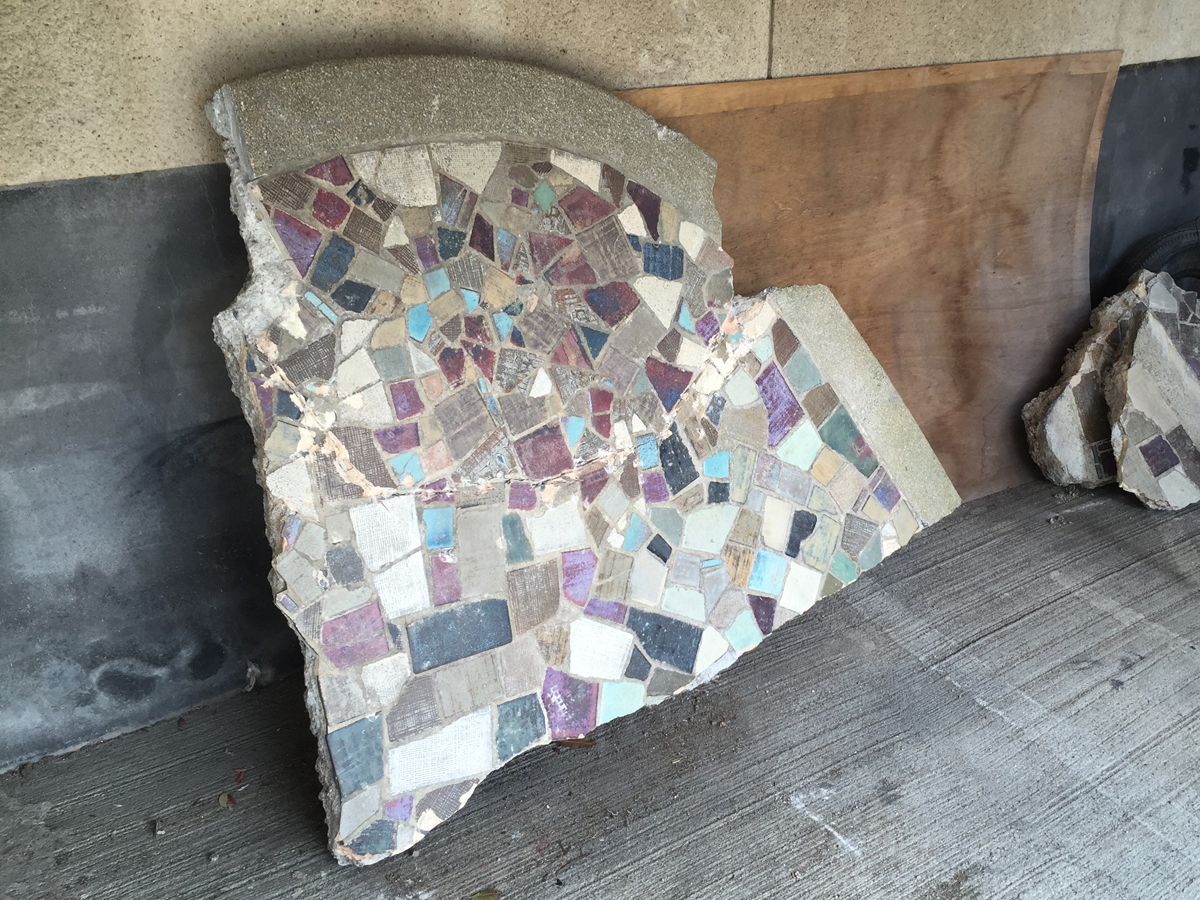 多治見市モザイクタイルミュージアムに寄贈されたタイル