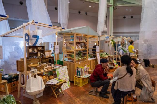 2020年1月に行われた「かめおか霧の芸術祭 素顔のかめおか」。鷹取さんは山フーズ×SHOKKIの「全部つくって全部たべる」ワークショップ企画のほか、コンベンションホールでのマルシェの出店者も一部セレクトした