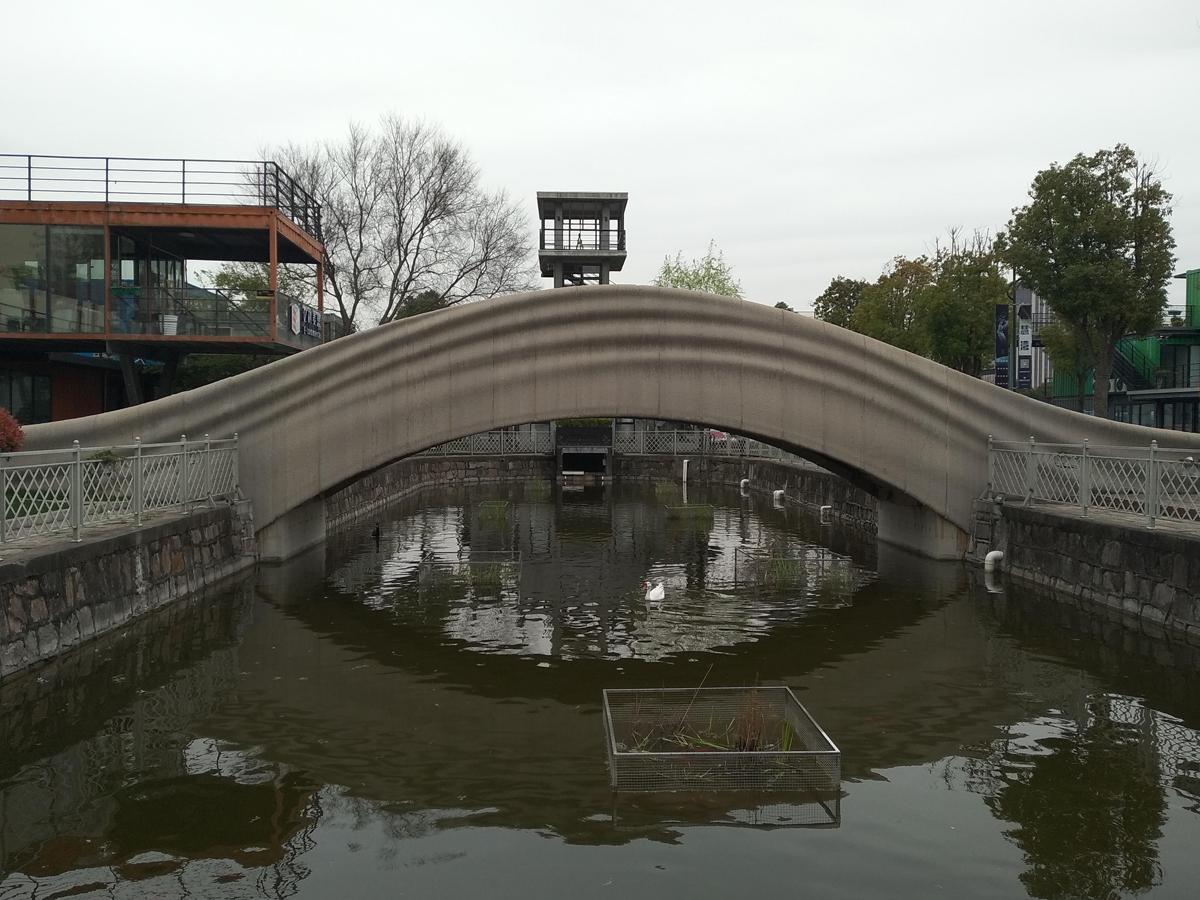 3D打印混凝土歩行橋 全景