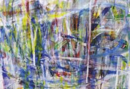 《ツバメの風》162.0×162.0㎝ 油彩・キャンバス 2021年