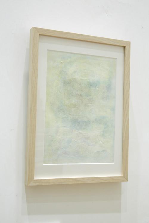 《そこはかとなく》水彩・鉛筆・紙 2014年 谷口さんが色彩を認識できなった頃に描いた作品。この作品が六花ファイル6期に選出さ れ、六花亭の喫茶室での個展開催に繋がった